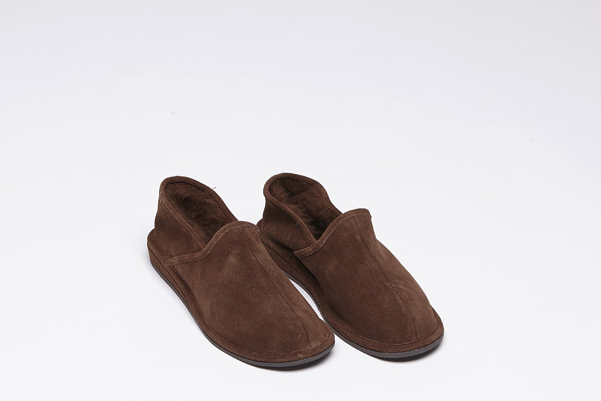 ac2258270a5d47 Wollen pantoffels - heren - Schapenhouderij Rob Adriaans